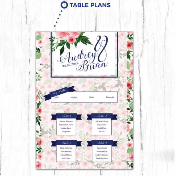 Wedding Table Plan