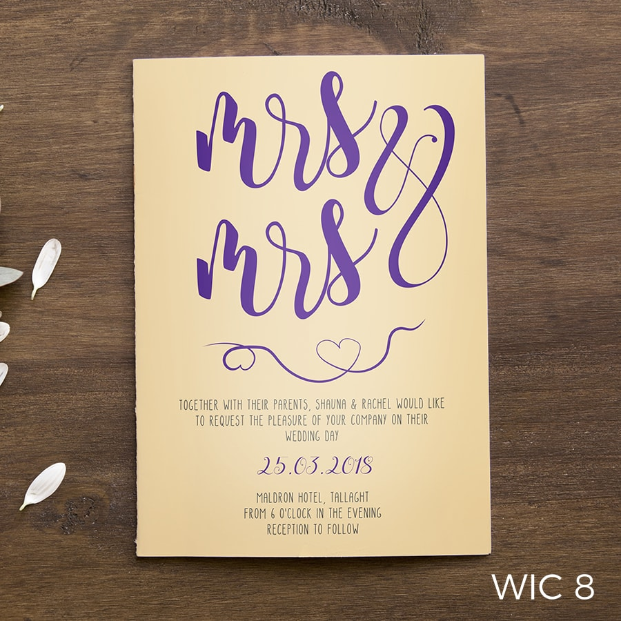 Flat Wedding Invites