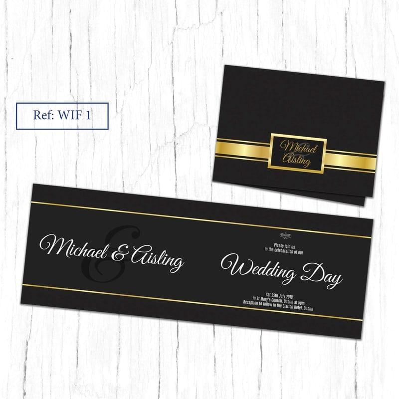 WIF 1 Folded Wedding Invite