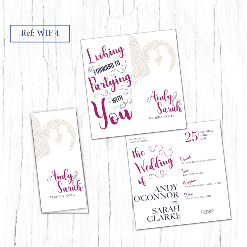 WIF 4 folded wedding invite