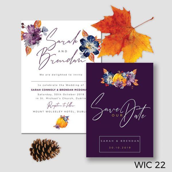 Autumn Inspired Wedding Invitation