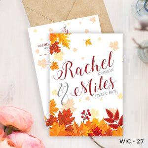Autumn Inspired Wedding Invite