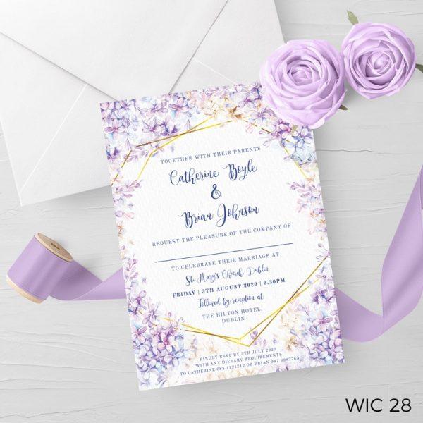 Lilac Wedding Invite